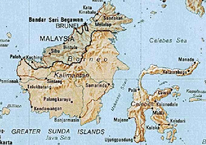 map borneo